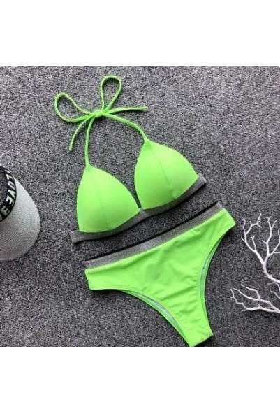 Бански GREEN&PINK NEON