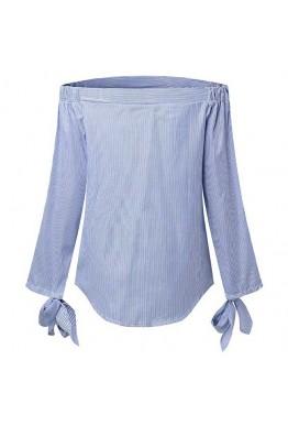 Блуза бяло и синьо райе