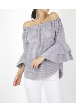Блуза с широки ръкави