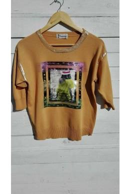Блуза в цвят горчица