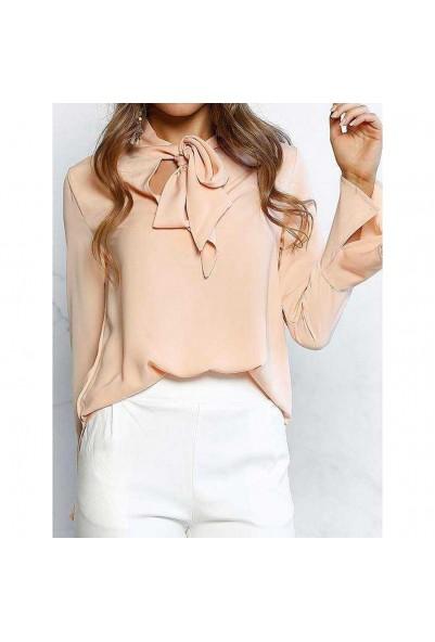 Елегантна блуза в розов цвят