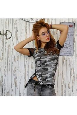 Камуфлажна тениска с мрежест гръб