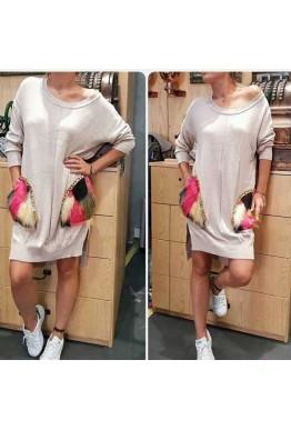 Туника-рокля в бежов цвят